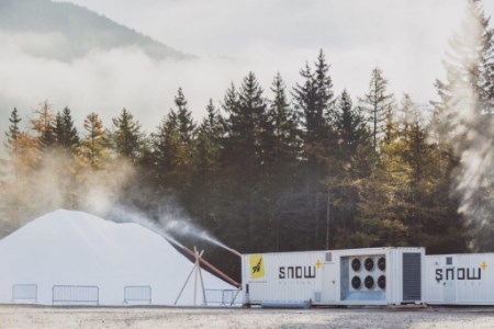 Snowfactory installed and running at Glencoe Mountain