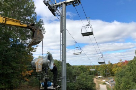 Snowmaking improvements at Caberfae Peaks