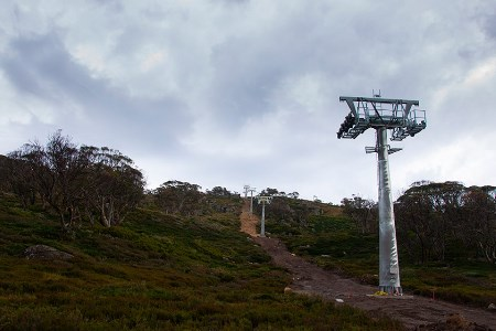 Leichhardt Quad Chairlift towers installed